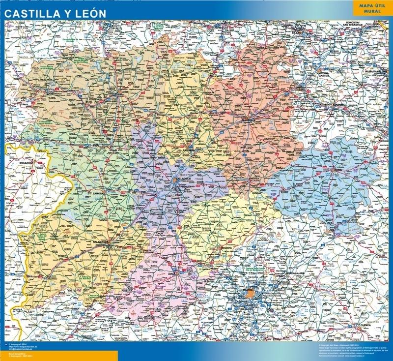Comprar Mapas Plastificados Las 17 Comunidades De Espana Mapas