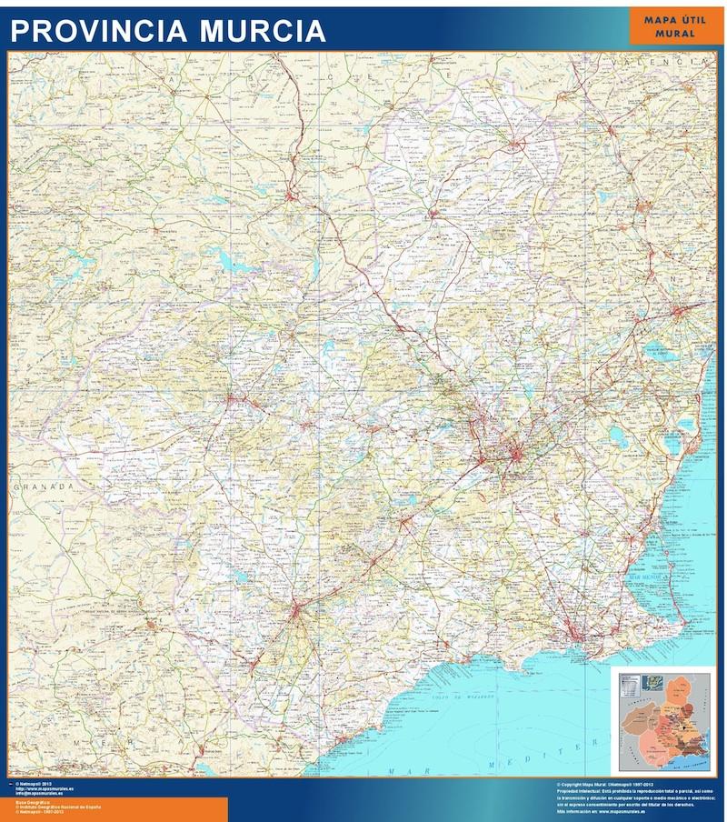 mapa comunidad murcia plastificado